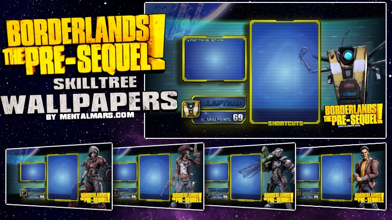 Borderlands the Pre-Sequel Skill Tree Wallpapers by mentalmars