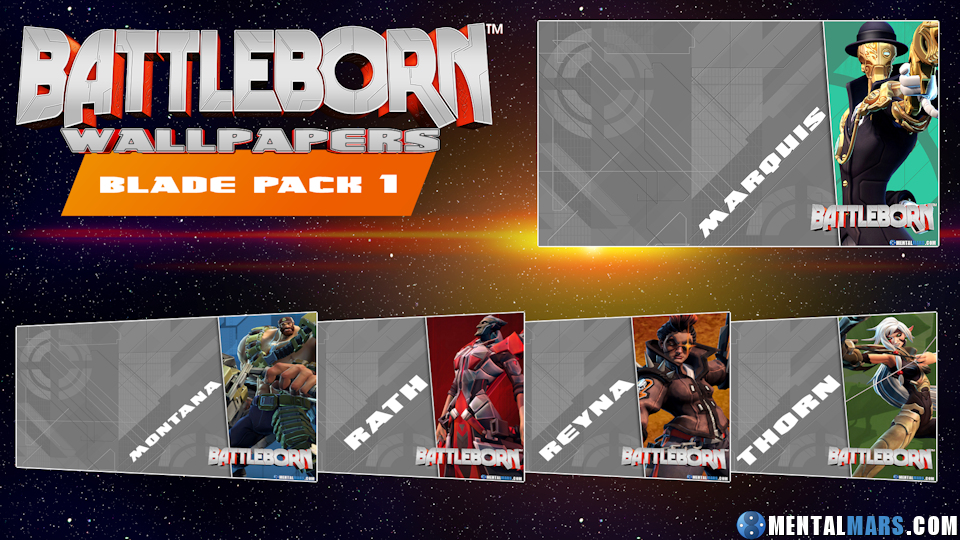 Battleborn Wallpaper Pack - Blade 1 by mentalmars