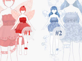 [OPEN SET PRICE] Outfit Adoptable - Fairies Part 1 by serenityione