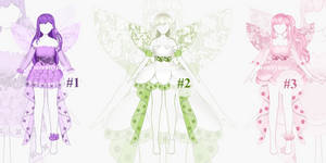 [OPEN $5 SET PRICE] Outfit Adoptable - Fairies 2 by serenityione