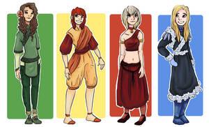 four friends, four nations, four elements