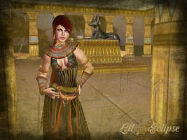 Anubis in Egypt by LilyEclipse