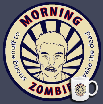 Morning Zombie coffee mug by BlakkReign