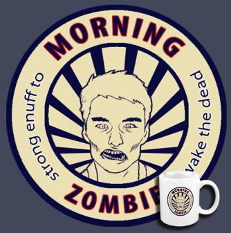 Morning Zombie coffee mug by BlakkReign