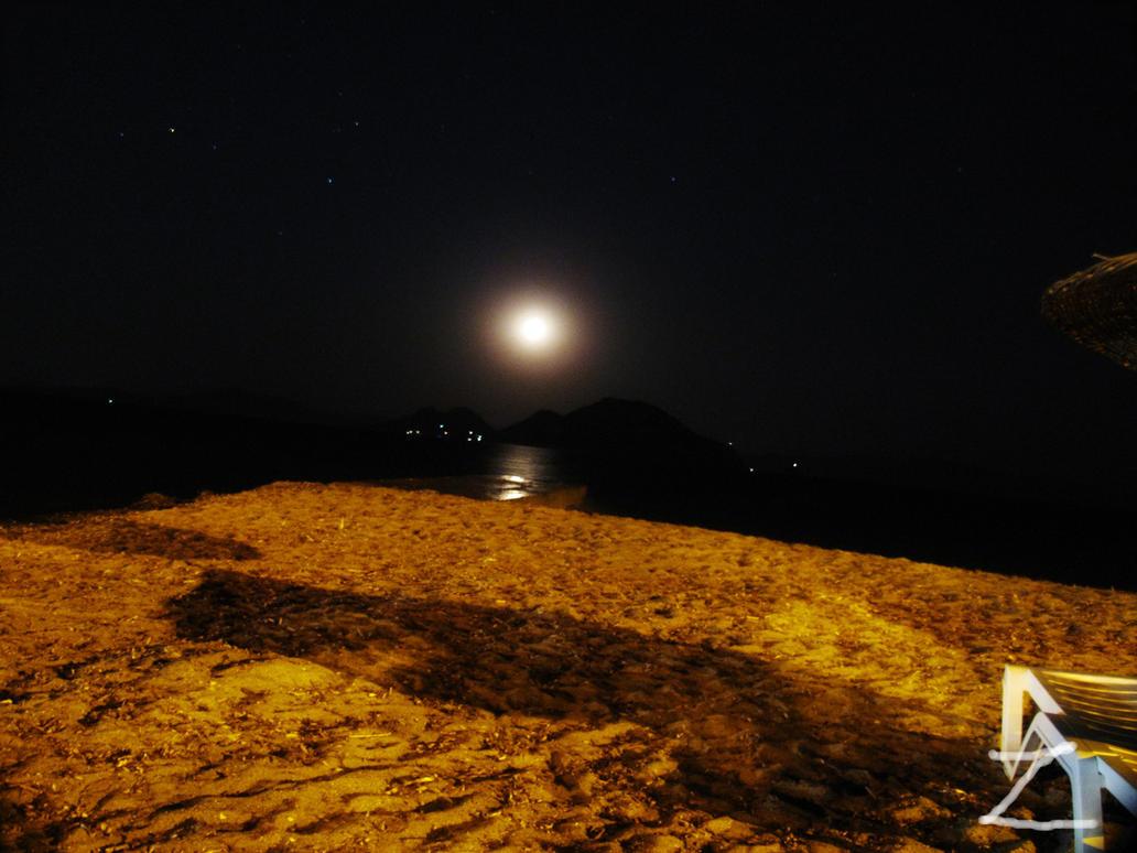 Turgutreis Moon by ZzZzZzZzZzZz