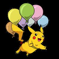 20th Pokemon Anniversary Flying Pikachu by Horse-Wolf-Dezine