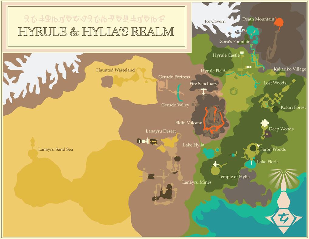 The Kingdom of Hyrule and Hylia's Realm by MrJmZack