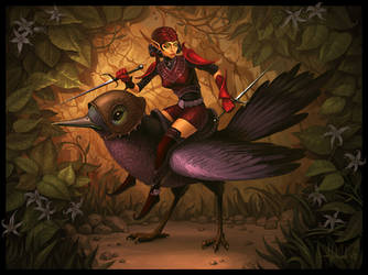 Bird Rider by Andead
