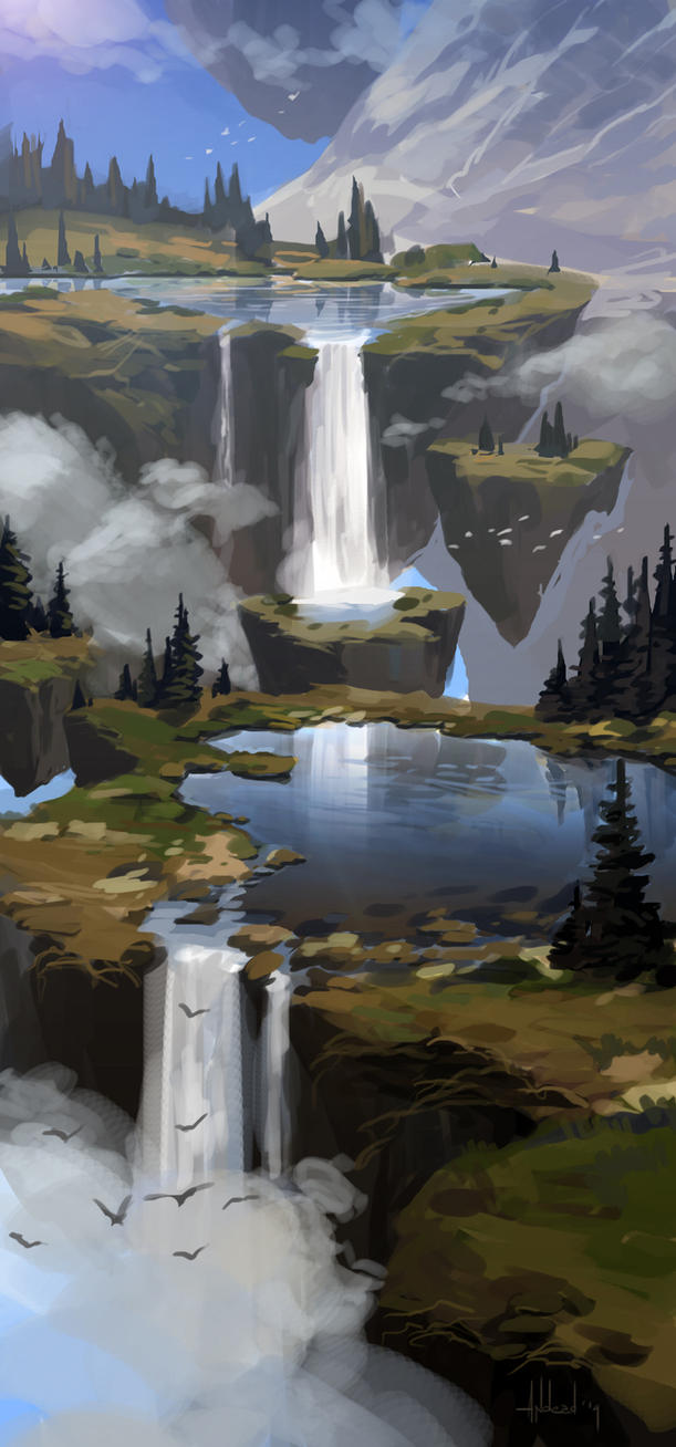 Mountain pond by Andead