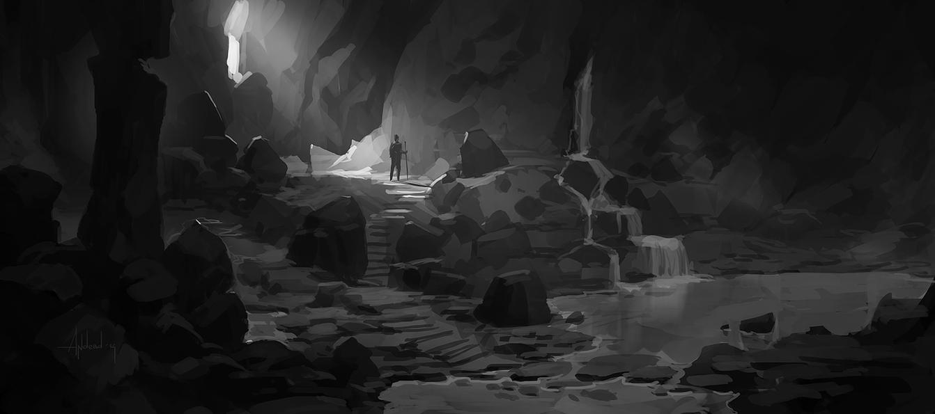 Cave Lake by Andead
