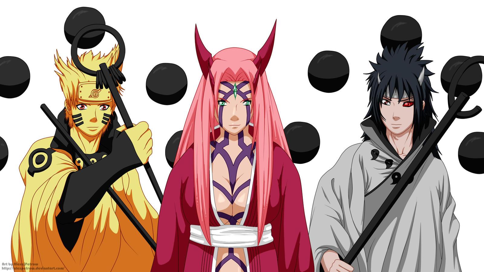 Team 7 (Naruto Sakura Sasuke) final form by AlexPetrow