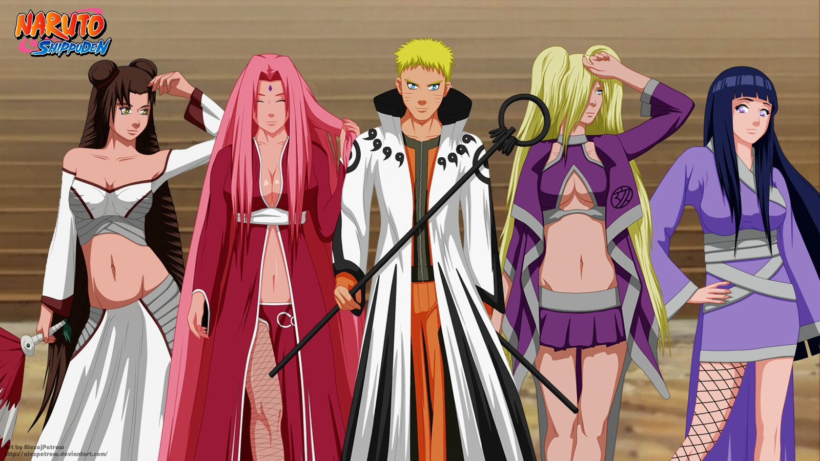 Naruto and Girls by AlexPetrow on DeviantArt
