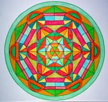 Metatron cube mandala by Aneniko
