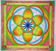 Compassion mandala by Aneniko
