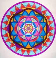 Sun mandala (coloured) by Aneniko