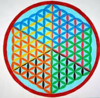 3D cube flower of life mandala by Aneniko