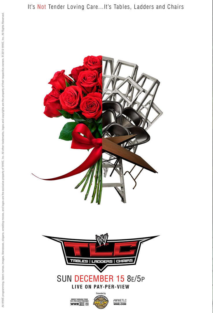 Wwe tables ladders and chairs 2013 poster - Wwe Tlc Tables Ladders And Chairs 2013 Poster By Dinesh Musiclover
