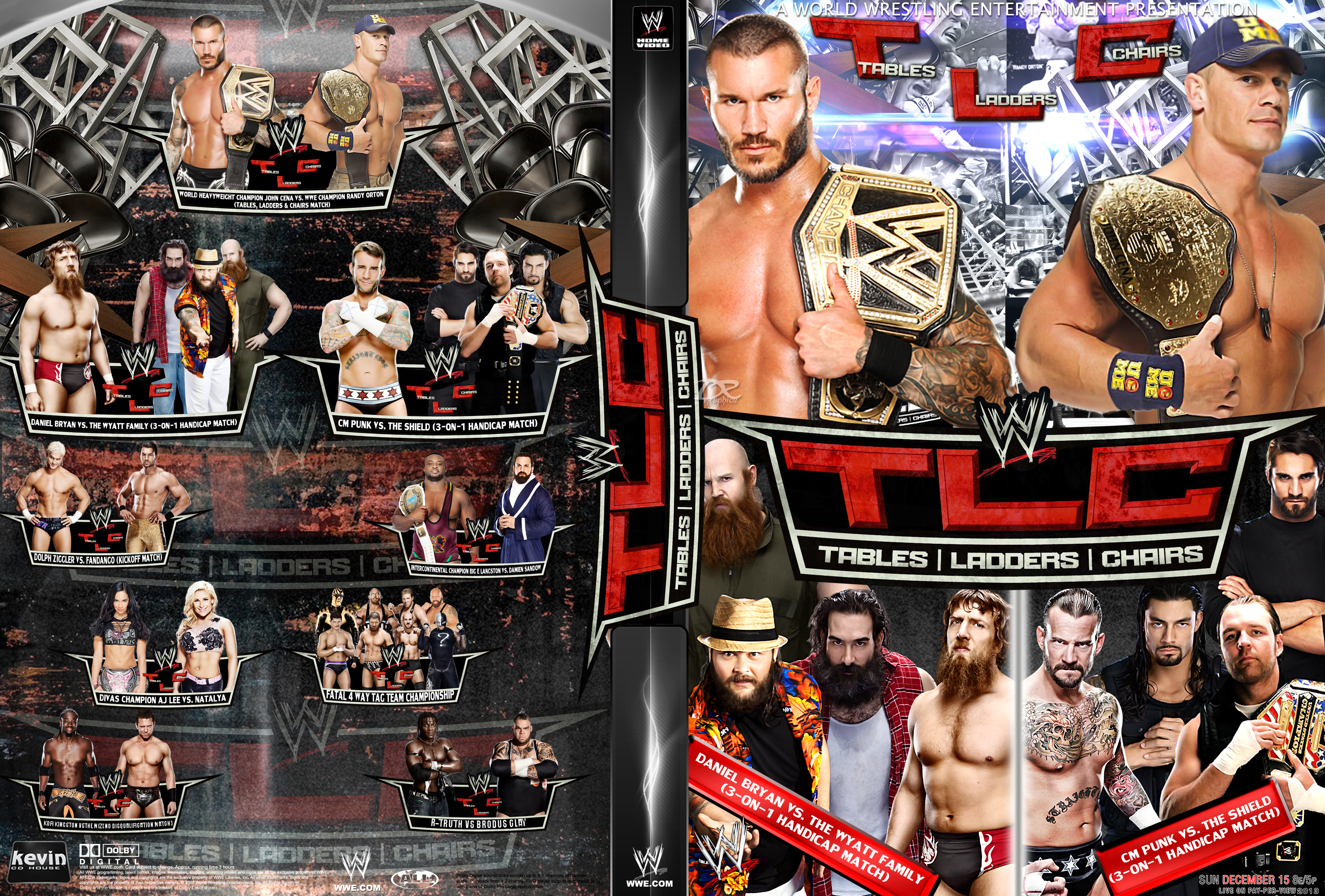 Wwe tables ladders and chairs 2013 poster -  Wwe Tlc Tables Ladders And Chairs 2013 Dvd Cover By Dinesh Musiclover