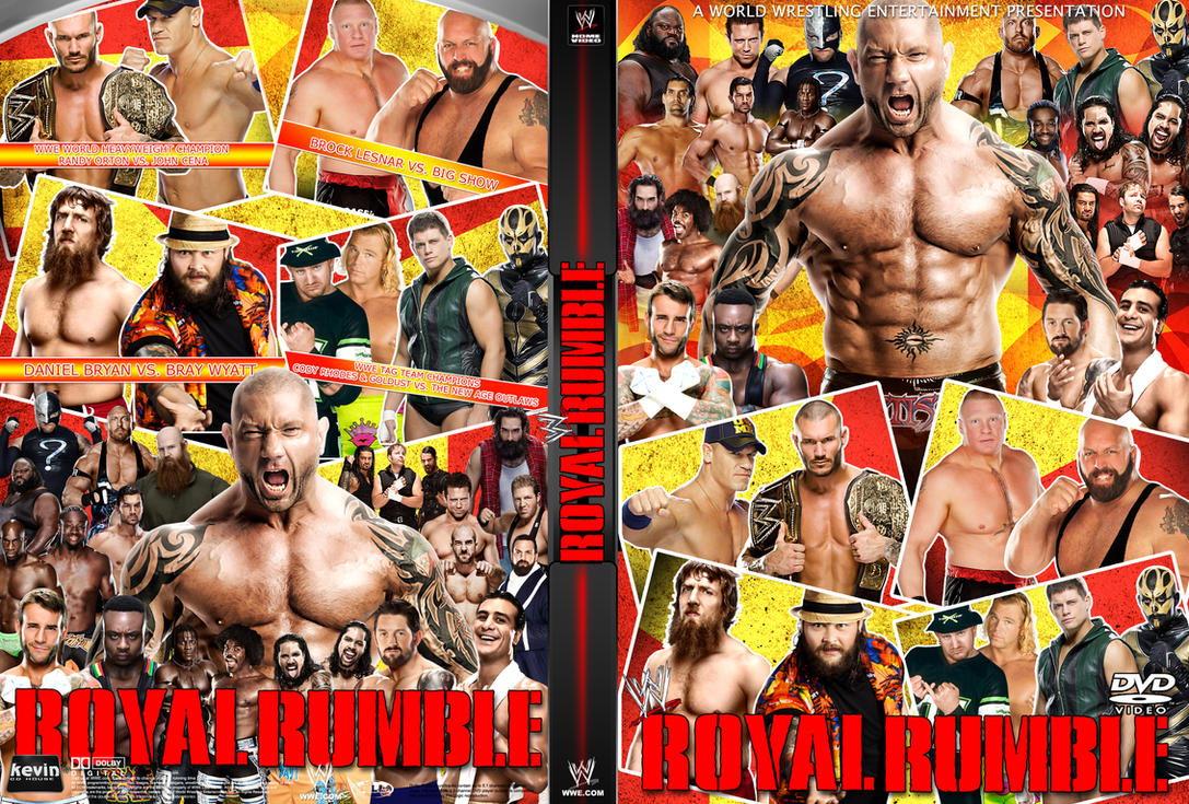WWE Royal Rumble 2014 DVD Cover by Dinesh-Musiclover