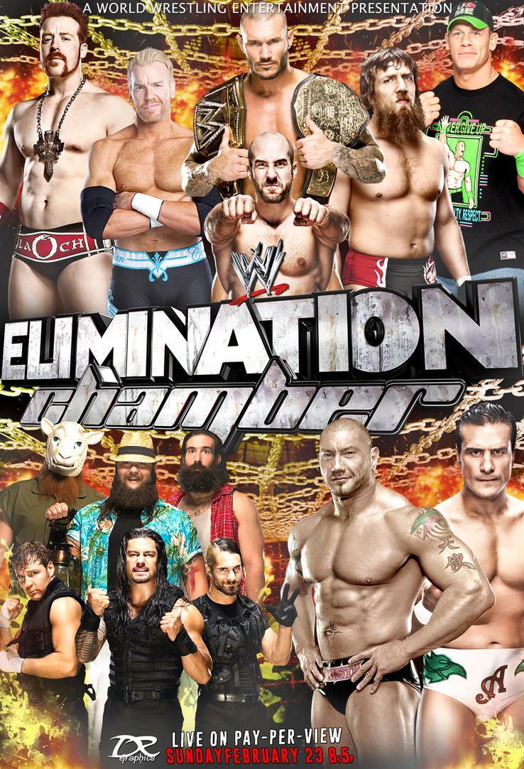 WWE Elimination Chamber (2014) Poster by Dinesh-Musiclover