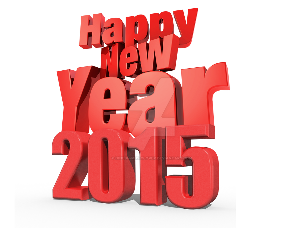 happy new year 2015 3d png by dinesh musiclover on deviantart