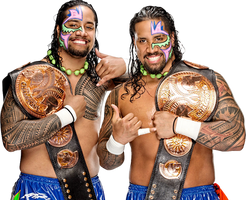 WWE Tag Team championship The Usos 2015 PNG by Dinesh-Musiclover