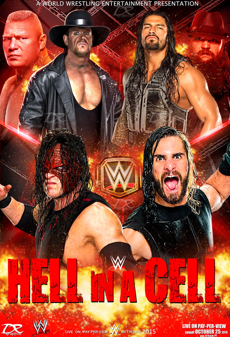WWE Hell In A Cell 2015 Poster by Dinesh-Musiclover