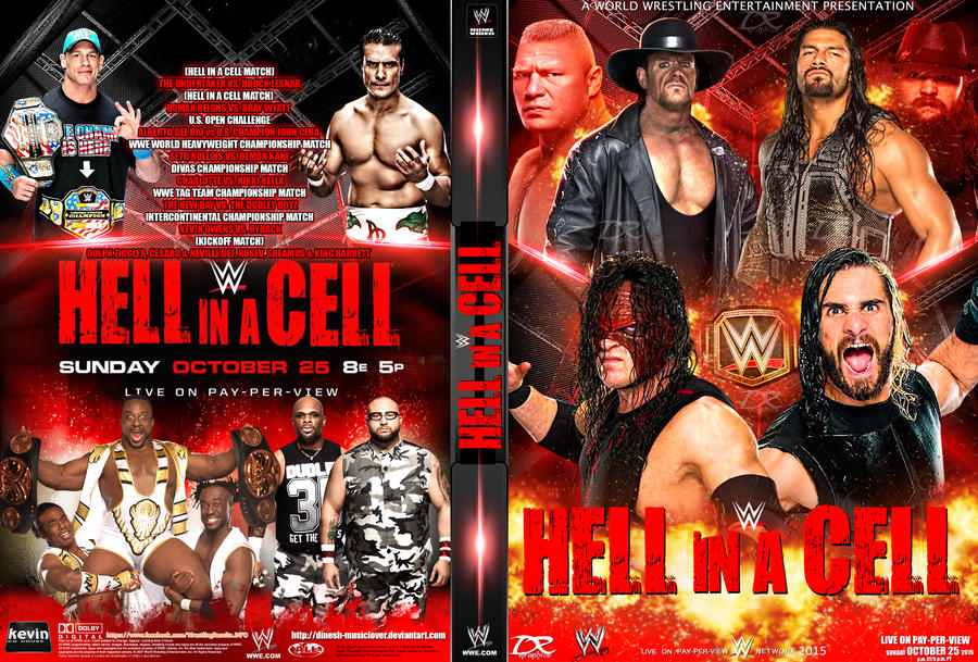 WWE Hell In A Cell 2015 DVD Cover by Dinesh-Musiclover
