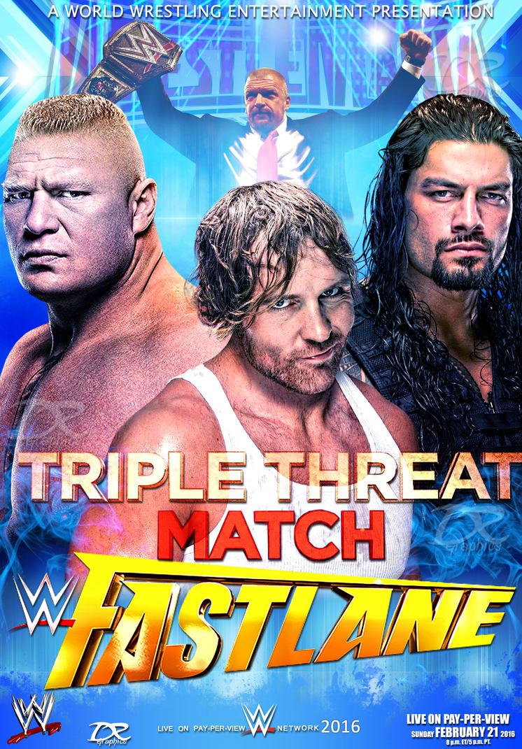 WWE FastLane 2016 Poster V2 by Dinesh-Musiclover on DeviantArt