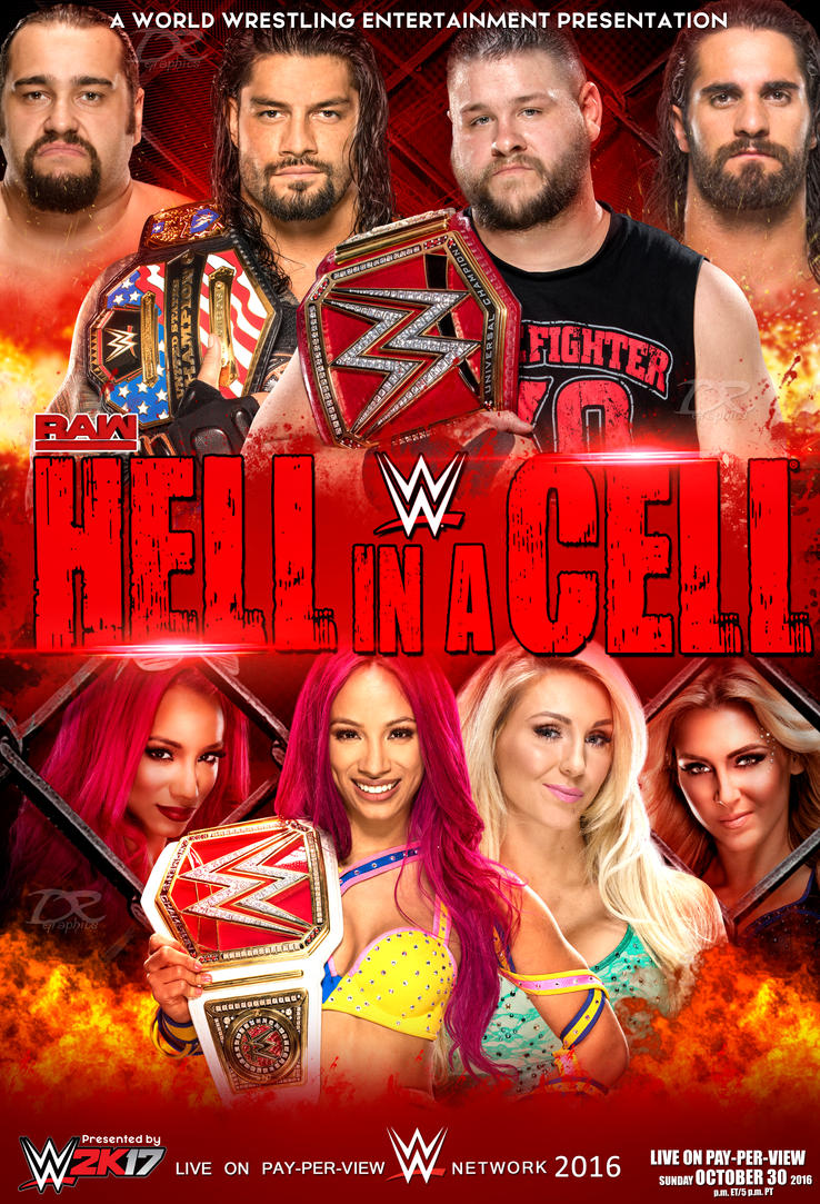 WWE Hell In A Cell 2016 Poster by Dinesh-Musiclover