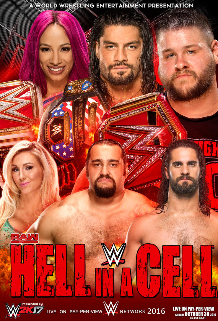 Wwe Hell In A Cell 2016 Poster V2 by Dinesh-Musiclover