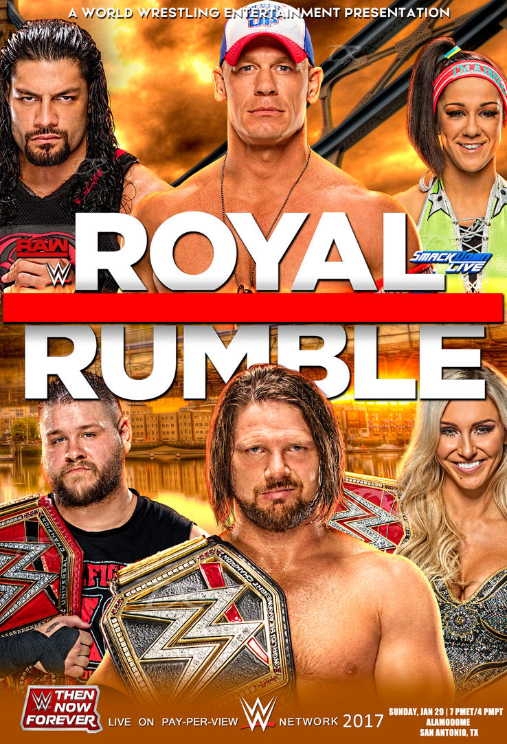 WWE Royal Rumble 2017 Poster by Dinesh-Musiclover