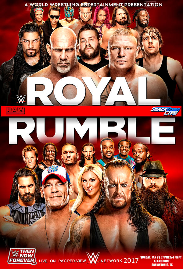 WWE Royal Rumble 2017 v3 by Dinesh-Musiclover