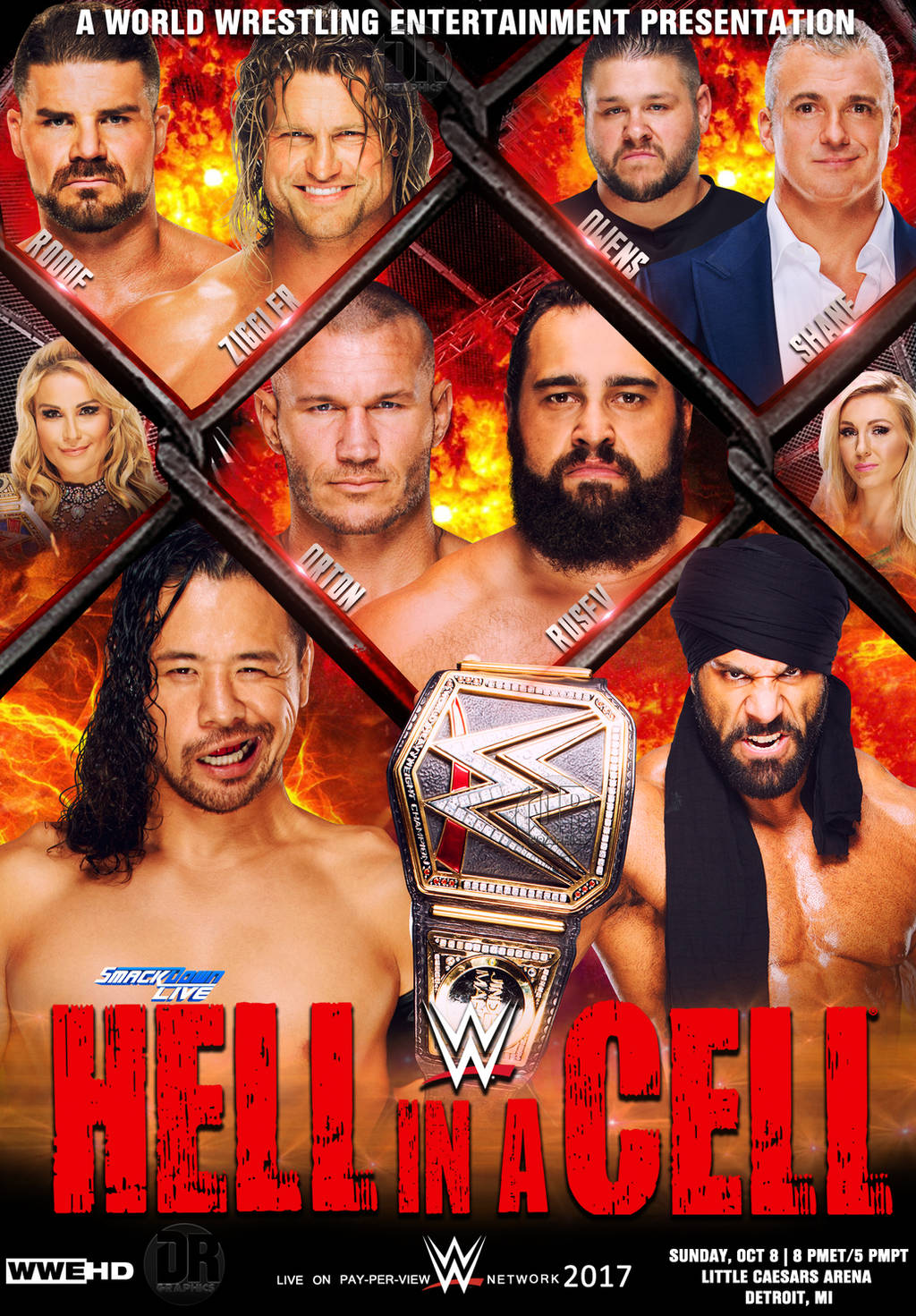 WWE Hell In A Cell 2017 Poster v2 by Dinesh-Musiclover