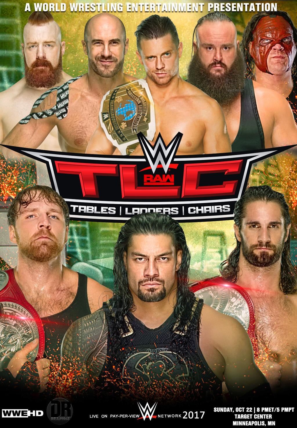 Wwe tables ladders and chairs 2013 poster - Darkvoidpictures 3 0 Wwe Tlc 2017 Poster By Dinesh Musiclover