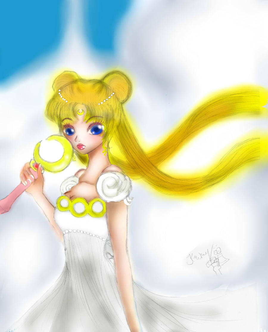 sailor moon fanart: Princess Serenity by Ladyr4v3n
