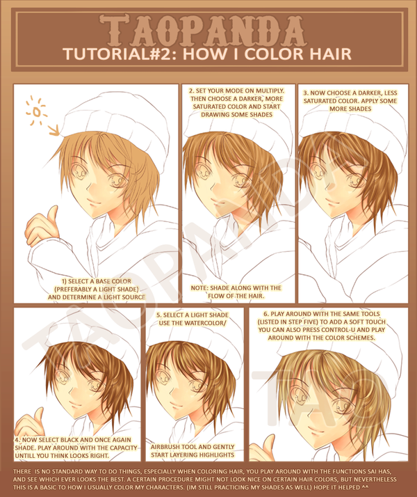 Tutorial: How i color hair by Shuruya on DeviantArt
