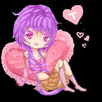 Lavender Hearts pixel by Shuruya