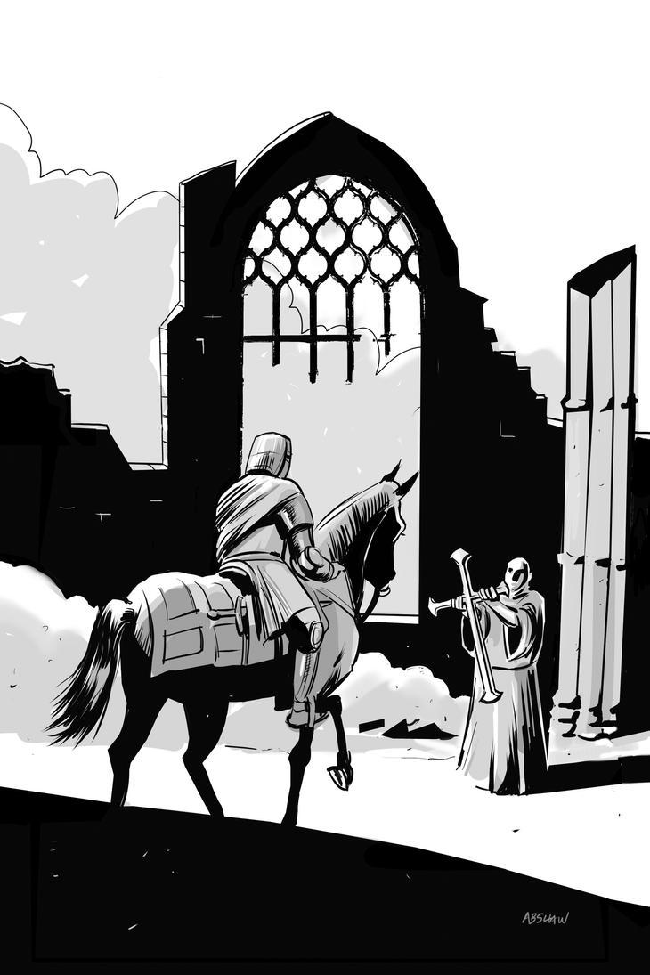 Medieval knight by AdamShaw