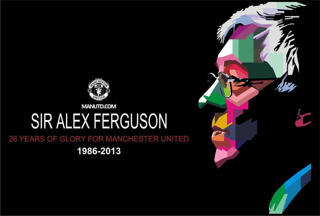 Sir Alex Ferguson in WPAP by Hadi-siGn on DeviantArt