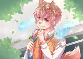 Kitsune_OC + [Speedpaint] by MaryCat83