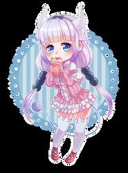 Kanna _ Dragon Maid chibi fanart by MaryCat83