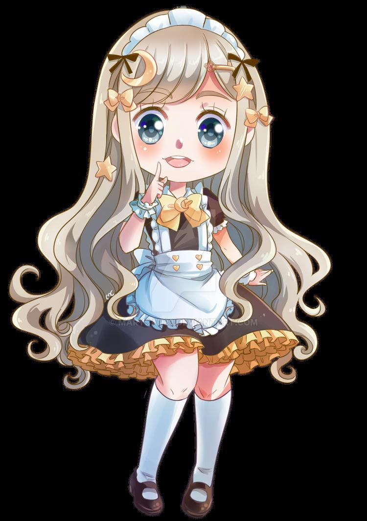 Luna _ maid chibi by MaryCat83
