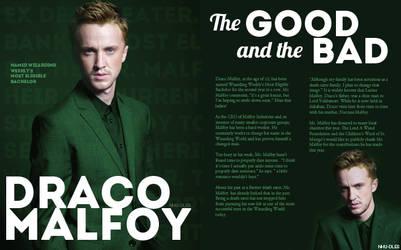 Wizarding Weekly Spread: Draco Malfoy
