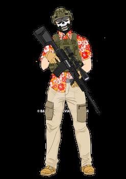 Hawaiian shirt operator