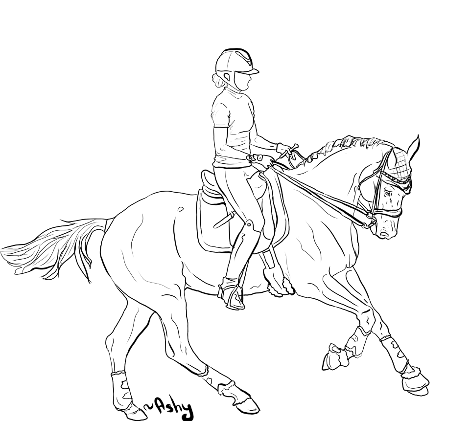 girl riding horse coloring pages - photo#34