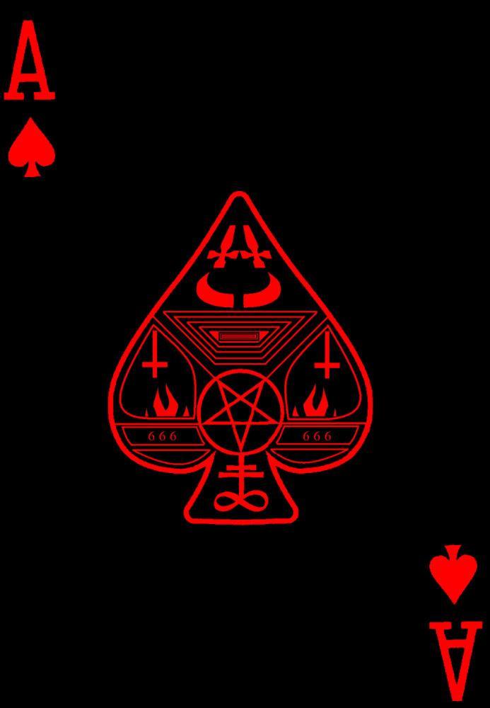 satanic ace of spades by sSTARRMa