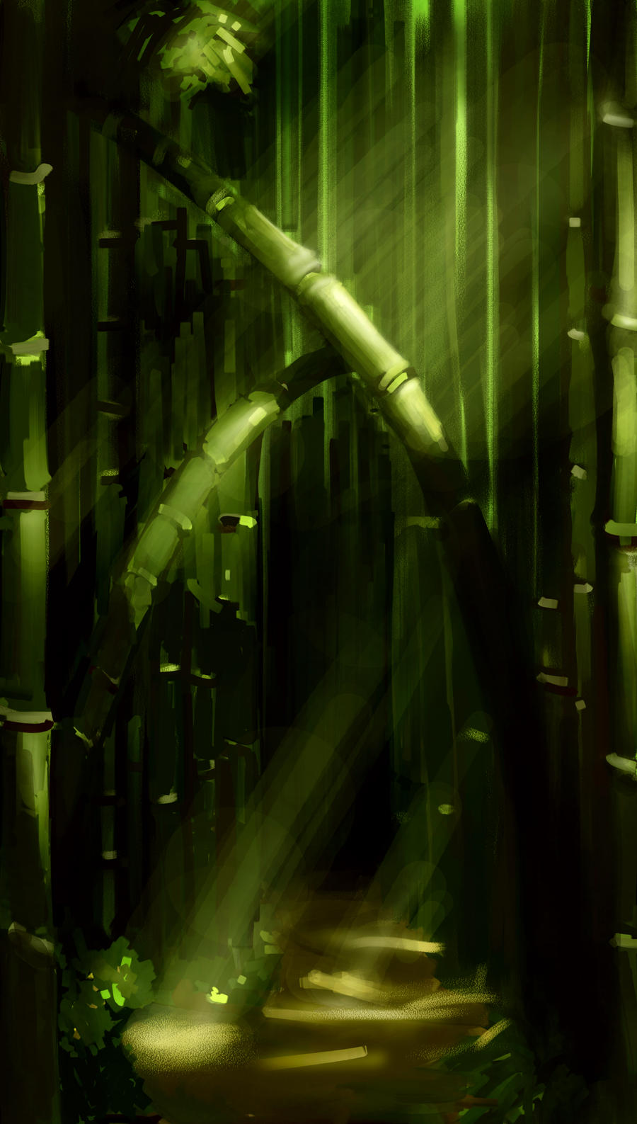 Bamboo Forest by haohaohayashi