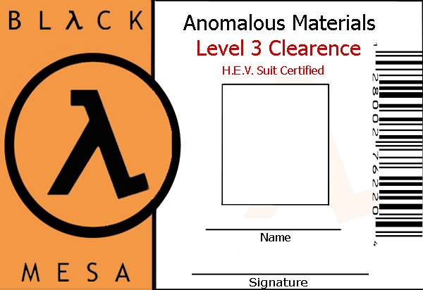 Black Mesa Id Template By Wesker Chick On Deviantart