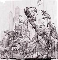 Demon's Door-pencils by Lizzy-John